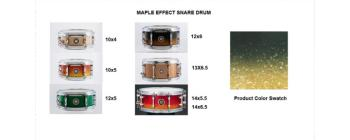 Snare 13X6.5 Maple Black & Gold (SA-SD1365MABG)
