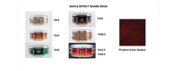 Snare 13X6.5 Maple Wine Red (SA-SD1365MAWR)