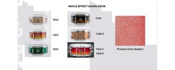 Snare 14X6.5 Maple Pink Champagne (SA-SD1465MAPC)