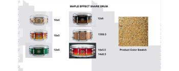 Effect Snare 10X05 Maple Gold Champagne (SA-SD1050MAGC)