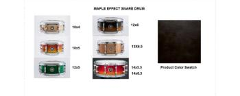 Effect Snare 12X05 Maple See-Trhough Black (SA-SD1250MASTB)