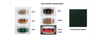 Snare 13X6.5 Maple Real Black (SA-SD1365MARB)