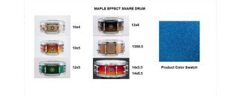 Snare 14X6.5 Maple Lake Placid Blue (SA-SD1465MALPB)