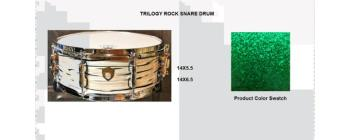 Trilogy Snare 14X6.5 Green Sparkle (SA-SD1465TRGRS)