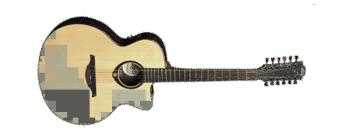 T400 Stage Jumbo Cutaway Electric - 12 String (LA-T400J12CE)